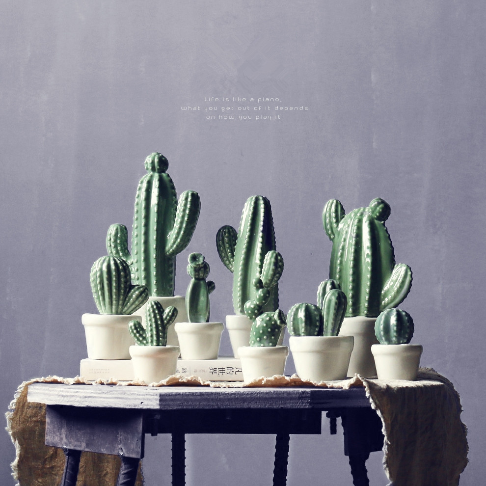 Best Selling Products Home Decor Bedroom Cheap Ceramic: Online Buy Wholesale Ceramic Cactus From China Ceramic