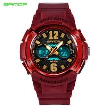 Sanda watch luminous waterproof alarm clock sports cartoon jelly childrens electronic watch,children watches for boys