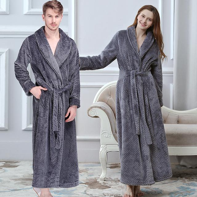Couple's Extra Long Warm Kimono Bath Robe