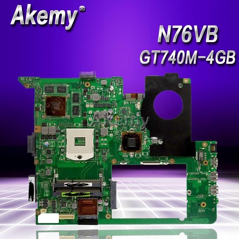 Akemy N76VB Laptop motherboard for ASUS N76VB N76VJ N76VM N76V N76 Test original mainboard GT740M-4GBAkemy N76VB Laptop motherboard for ASUS N76VB N76VJ N76VM N76V N76 Test original mainboard GT740M-4GB