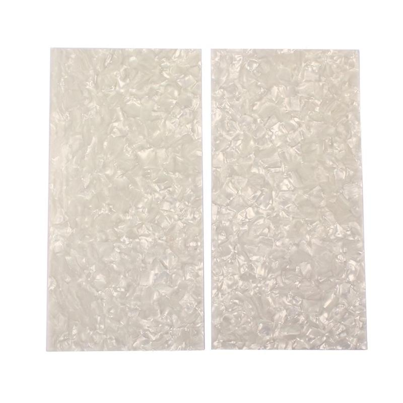 2pcs Celluloid Sheet Guitar Veneers Pearl Shell Sheet Guitar Accessories Head Celluloid Sheet 200x100x0.72mm Shell Guitar Parts