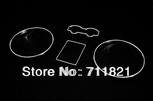 Juego de anillos de calibre cromados para tablero de instrumentos, para VW Golf Jetta Bora MK4/T4 Eurovan (modelos de Punta larga 97 03) / Passat B5 (97 01)