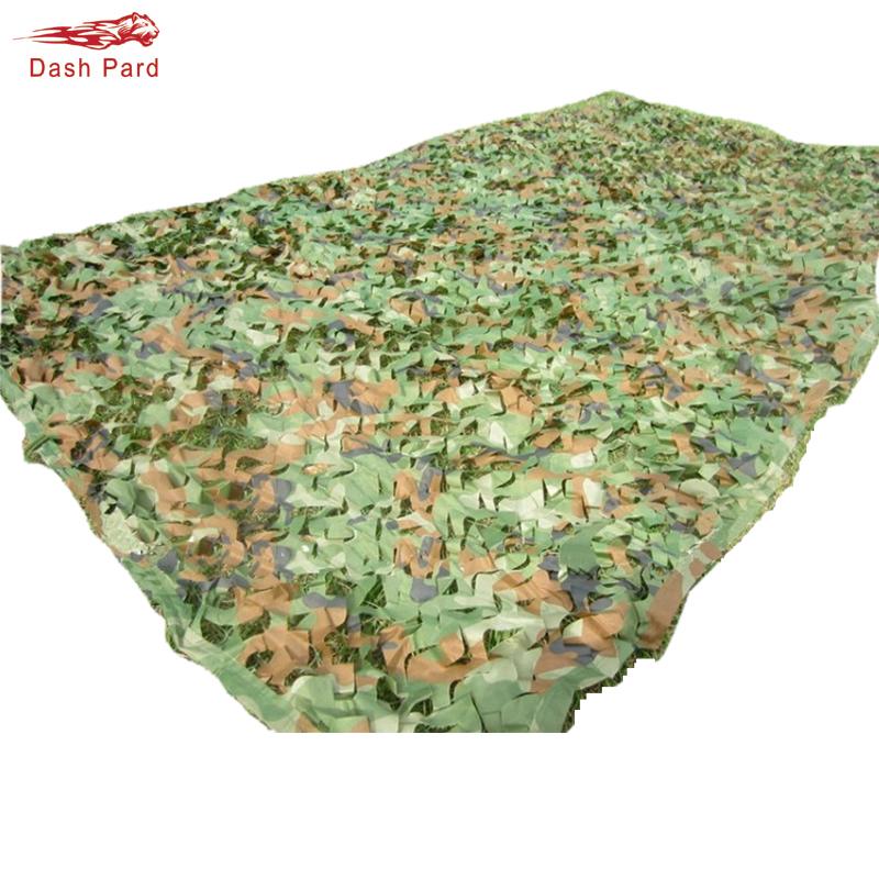 Hunting Camping 2 Layers Camo Net  4 Size Forest Camouflage Net Jungle Leaves For Military Car Shade Cover With Hang Rope