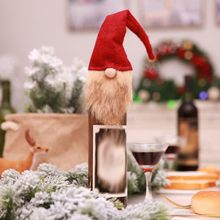 Party DIY Long Beard Santa Claus Christmas Xmas Elf Bottle Set New Year Dinner Party Decorations Home Festival Party Supplies()