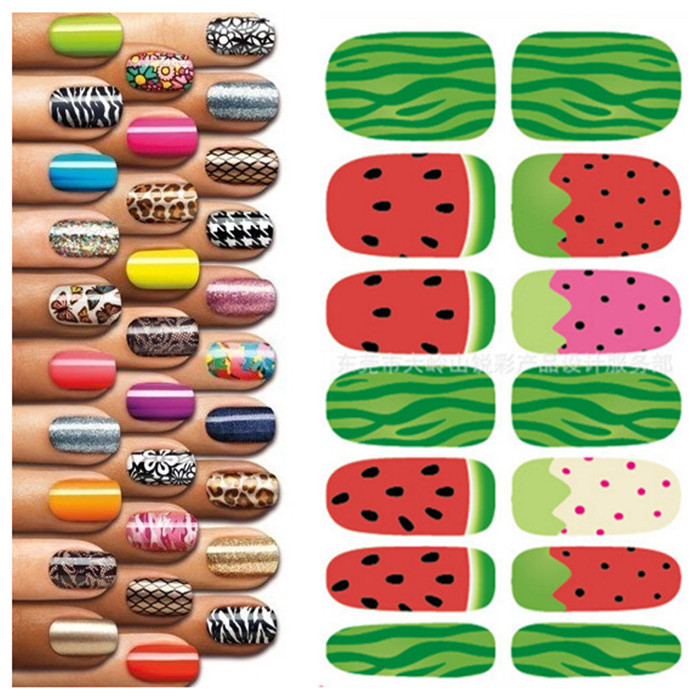 picture relating to Printable Nails called Aliexpress Adorable Watermelon Print Nail Sticker Elegance Nail