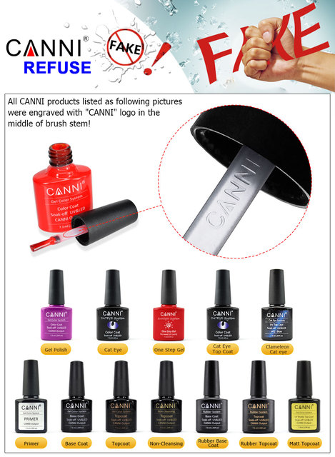 CANNI Base Coat Topcoat High Glossy Tempered No-wipe Matt Top UV LED Foundation Gel Long Lasting Color Lacquer Nail Gel Polish 5