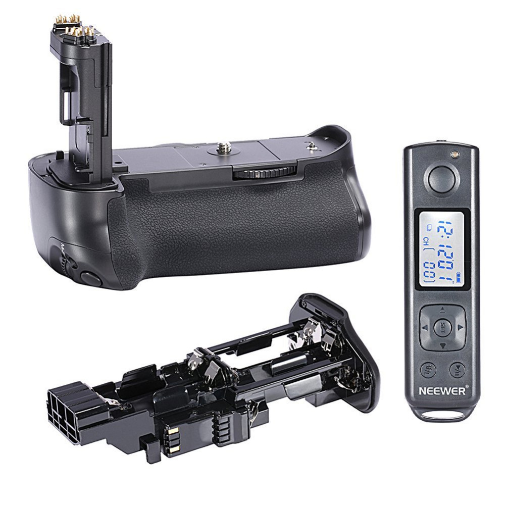 Neewer Built-in 2.4G Wireless Remote Control Battery Grip for Canon EOS 7D Mark II 7D2 as BG-E16 works with LP-E6 Battery meike mk 760d pro built in 2 4g wireless control battery grip suit for canon 750d 760d as bg e18
