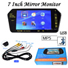 Parking 7 Inch TFT LCD Car Mirror Monitor With MP5 SD USB Slot Bluetooth Rearview Screen