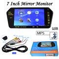Estacionamiento de 7 Pulgadas TFT LCD de Coches Espejo monitor con MP5 SD/Ranura USB Bluetooth Retrovisor Pantalla de Marcha Atrás 12 v alta Resolución 1024*600