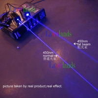 STAGE LIGHTING Show 350mW Blue Fat Beam 445nm 450nm Laser Diode Module 12V W TTL