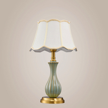 Modern LED Table Lamp Ceramic Living Room Copper Decor Lights Desk Study Bedroom Bedside Kitchen Fixtures