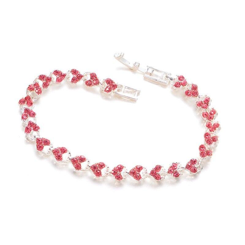 Women Charm Shiny Crystal Bracelet Bangle Jewlery Accessories Gifts M8694