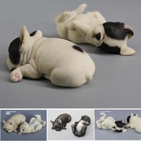 Mnotht 1 6 French Bulldog Model Puppy Sleeping State Simulation Animal Model Toys