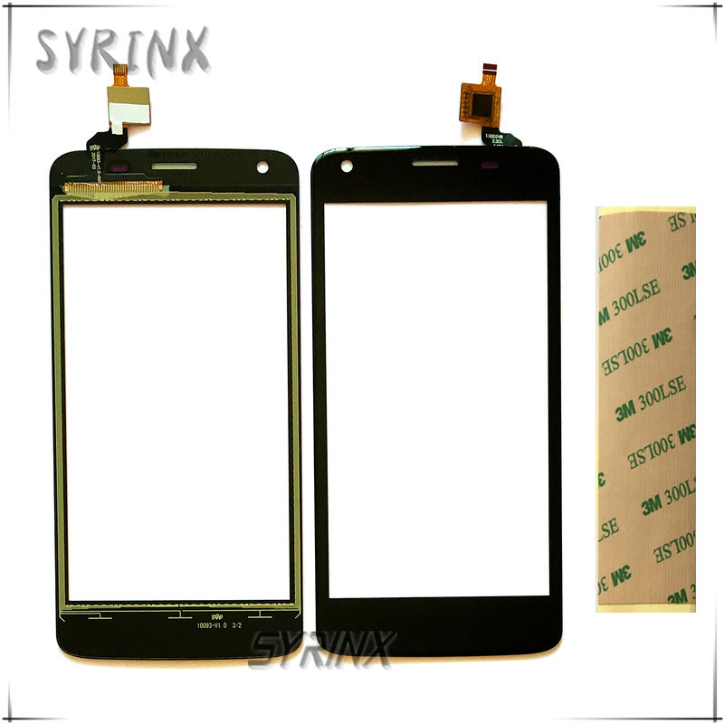 Syrinx 4.5 inch 3M Tape Mobile Phone Touch Screen Front Glass Lens Panel For Fly FS457 Nimbus 15 Touchscreen Digitizer Sensor image