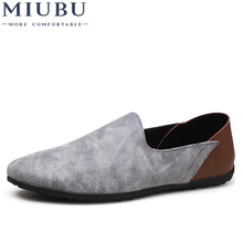 MIUBU Comfortable Soft Suede Men Loafers Cow Genuine Leather Fashion Brand Mens Flats Driving Shoes Plus Size 46 47 48