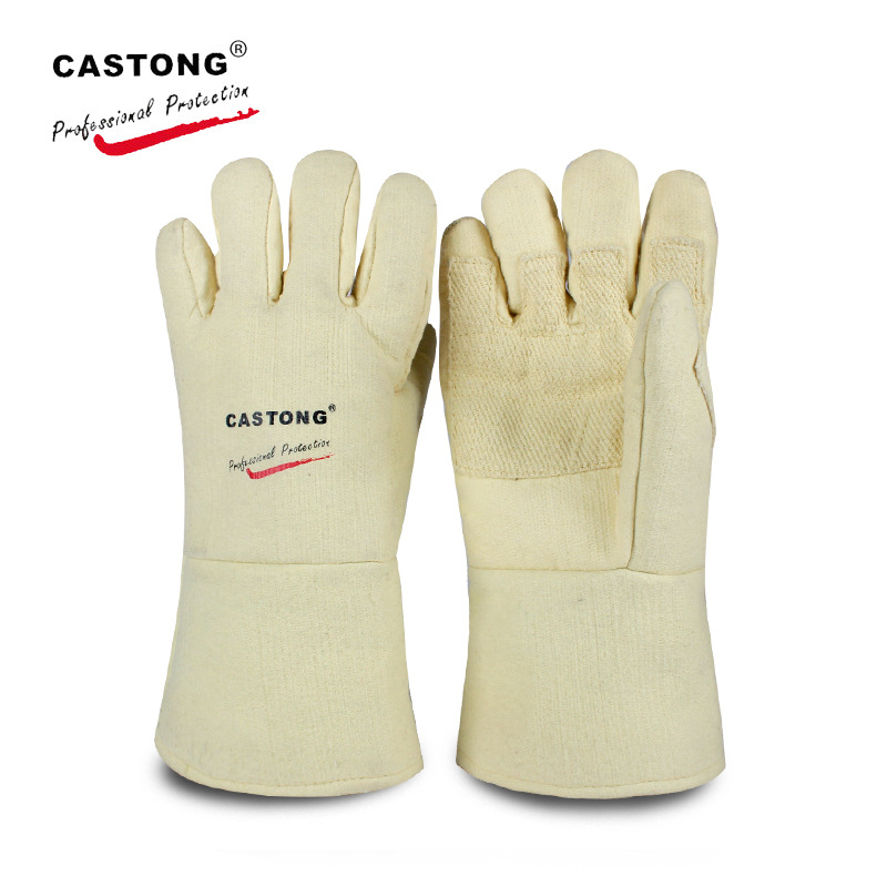 CastongBY-5T-34 500 degree high temperature gloves Wear resistant and heat resistant gloves Oven glove Safety Gloves цена