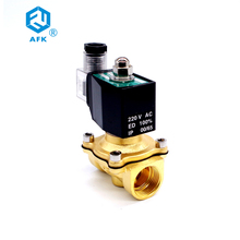 2 Way Lpg Brass Gas Solenoid Valve 3/4 220VAC DN20 Electric 24V Normally Closed 150degree