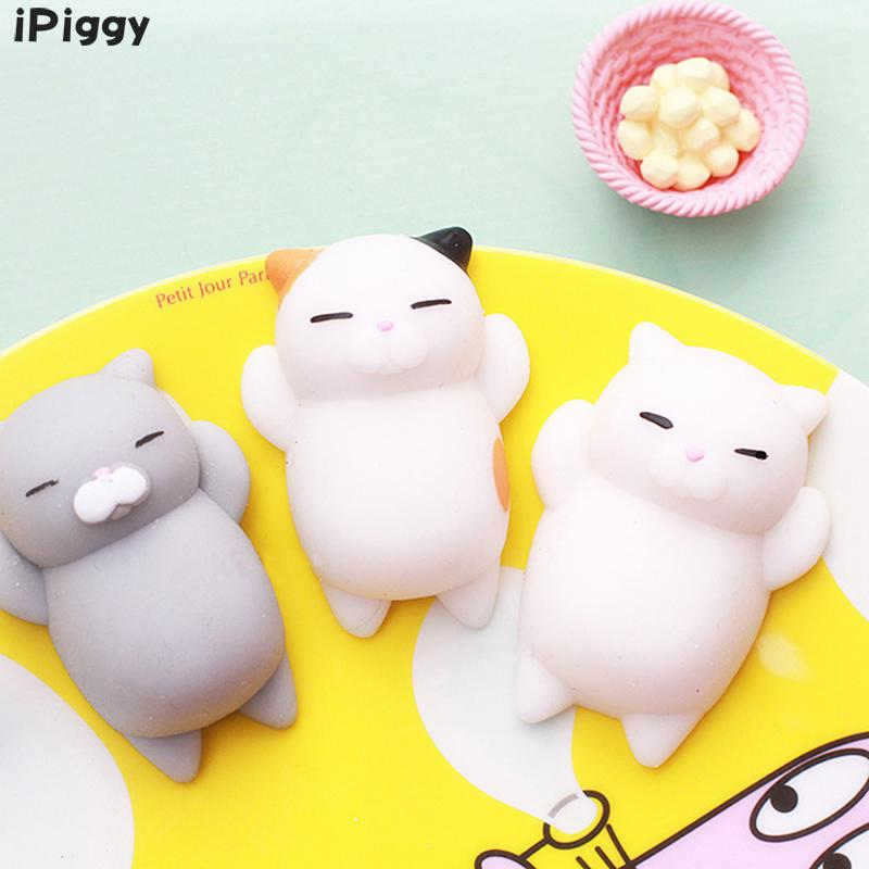 Squeeze Mochi Anti-stress Toys Pets Soft Sticky Squishies Funny Gift ToysKwaii Mini Squishy Toy Cute Cat Anti Stress Relief Toy