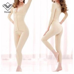 Image 2 - Wechery Body Shaper ใหม่ผู้หญิง Slimming ความยาวเต็มบอดี้สูทแขนยาว Faja หญิง Shapewear Plus ขนาดชุดชั้นในสตรี