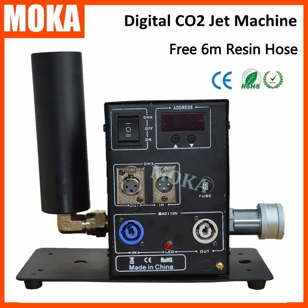 1 Pcs/lot 200W Digital co2 jet machine dmx co2 jet fogger Machine CO2 stage effect co2 Cannon for dj