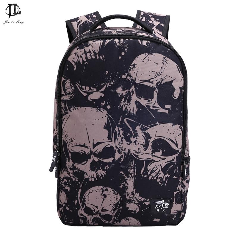 Fashion women Mochila 3D Cartoon printing men backpack Street Punk Bag rock Skull Backpack school bags for teenagers daikin ftxb 50 c rxb 50 c