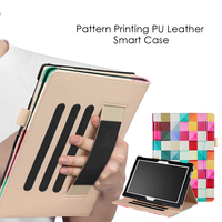 DULCII For Lenovo Tab 4 10 Plus Case Patterned Stand Smart PU Leather Card Holder Cover