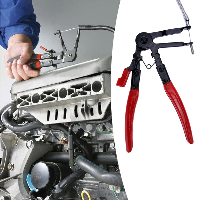 Professional Auto Vehicle Tools Cable Type Flexible Wire Long Reach Hose Clamps Pliers for Car Repair Hose Clamp Removal Plier