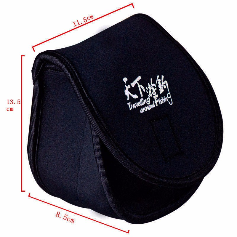 Image 2 - Fishing Reel Bag 11.5*13.5*8.5cm Neoprene Protective Cover Case for Spinning Coil Carp Fishing Accessories High Quality Reel Bag-in Fishing Bags from Sports & Entertainment