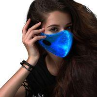 Saful LED Flashing Mask 7 Colors Luminous Light for Men Women Rave Mask Music Party Christmas Halloween Light Up Mask