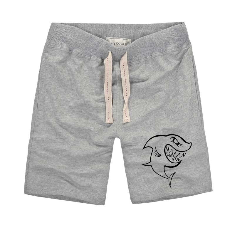 Personality Men Shorts Harajuku Cartoon Shark Printed Funny Shorts Men's 2018 Summer Fashion Casual Outdoors Cool Beach Shorts
