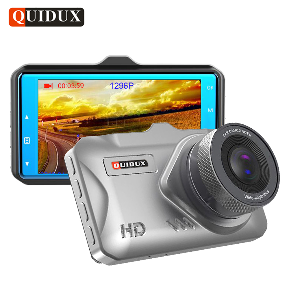 QUIDUX 3 IPS coche DVR Super HD 1296 P Video Recorder ADAS Night Vision Full HD 1080 p Dash cámara 170 grados autoregistrator