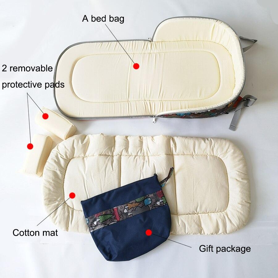 Lit bébé multifonction pliable amovible momie sac nouveau-né portable bébé lit bébé nid lit voyage lit pour bébés enfants - 5