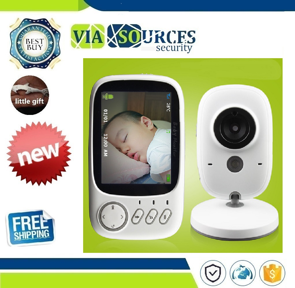 3.2 inch Wireless Video Color Baby Monitor High Resolution Baby Nanny Security Camera  Night Vision Temperature Monitoring3.2 inch Wireless Video Color Baby Monitor High Resolution Baby Nanny Security Camera  Night Vision Temperature Monitoring