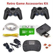 32GB RetroPie Game Accessories Kit 2pcs Wireless Controllers Gamepad Joypad Joystick for Raspberry Pi 3 Model B