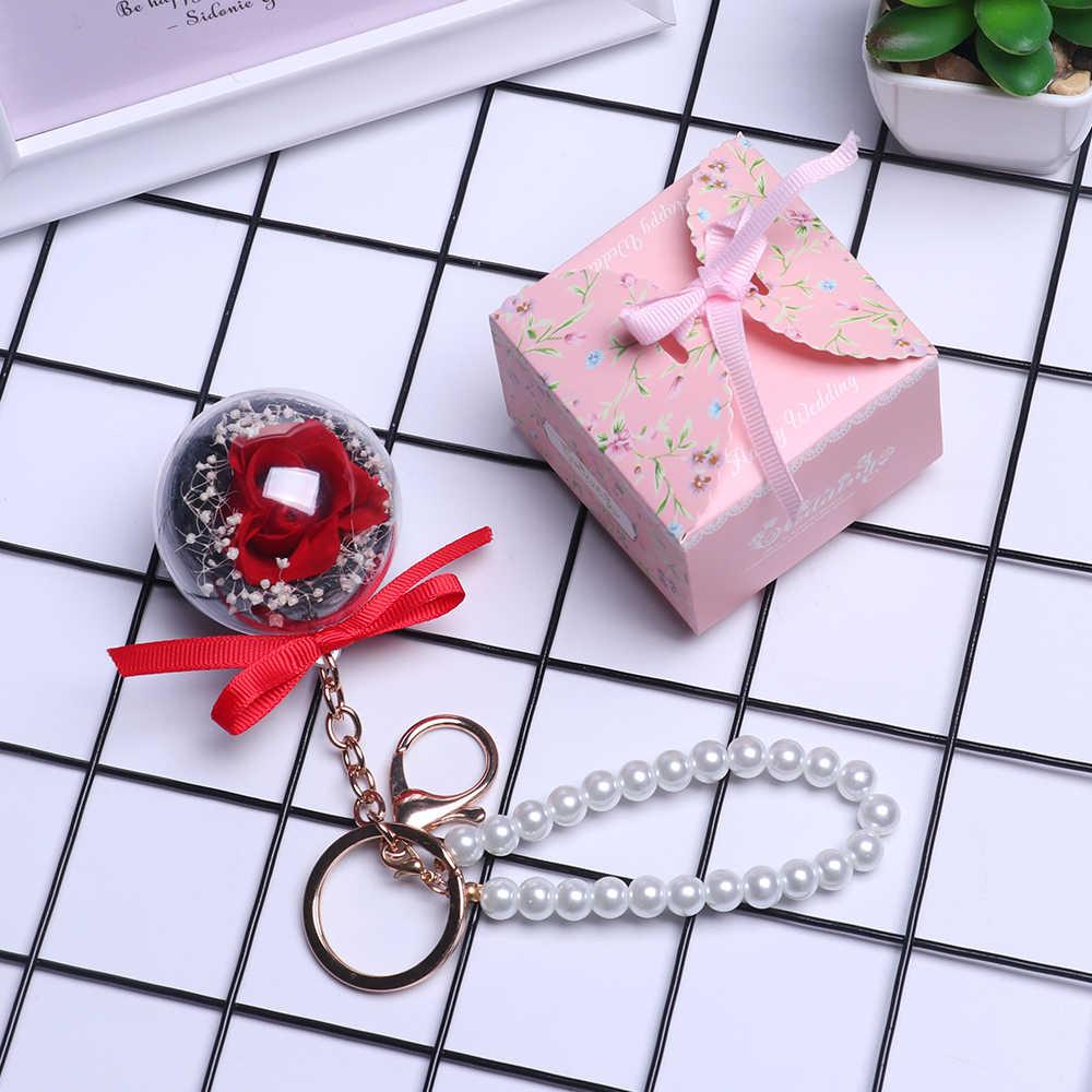 Шарм вечный цветок кулон брелок натуральные сухие цветы кулон брелок Свадьба День святого Валентина хороший подарок