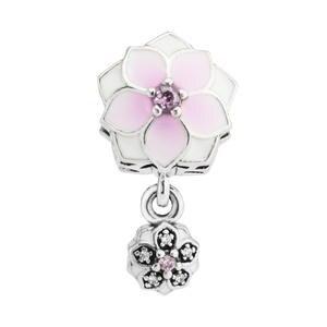5cbbdb915 PIKAPIKA Fits Bracelet love pendant pink zircon DIY charms