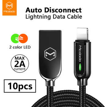 10Pcs/lot Mcdodo USB Cable LED 2A for iPhone iOS13 XS Max XR X 8 7 6s Plus Cord Fast Charging Auto disconnect Charger Data Cable - DISCOUNT ITEM  6% OFF All Category