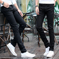 In the spring of the explosion jeans black youth students stretch slim pencil pants tide jeans