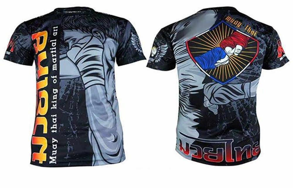 Camiseta Jujitsu Mma con impresión de sublimación de WYXTREME Rashguard BJJ Jersey de boxeo Gi Jiu Jitsu