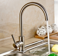 Free Shipping 304 Stainless Steel Lead Free Kitchen Faucet Mixer Drinking Water Filter Kitchen Tap Purified