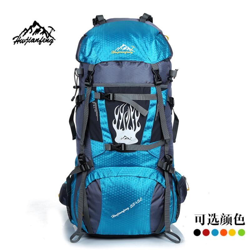 Large Capacity Outdoor climbing bag man travel bag hiking camping mountaineering waterproof professional backpack rucksack 60L