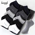 10 Paare/paket männer Bambus Faser Socken Kurze Hohe Qualität Neue Casual Atmungsaktiv Anti-Bakterielle Mann Ankle Socken Männer