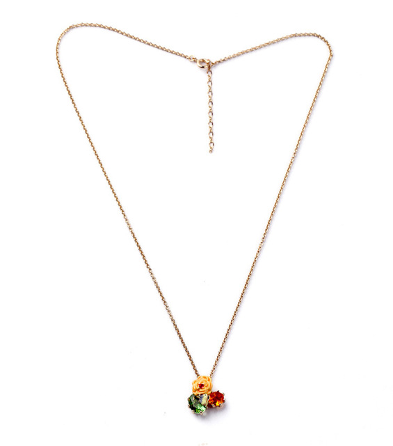 Dyxytwe cute small yellow flower green red gem necklace women dyxytwe cute small yellow flower green red gem necklace women elegant simple fine flower gem sweater mightylinksfo Choice Image