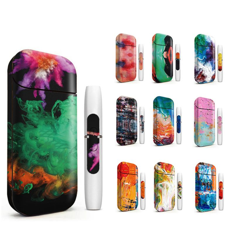 Universal Fashion PVC Bumpy Printing <font><b>Sticker</b></font> Anti-dust Decorative Protective Film Skin for <font><b>IQOS</b></font> Box Cover Case image