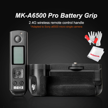 Meike MK-A6500 Pro Battery Grip Built-in 2.4Ghz Remote Controller Up to 100M For Sony A6500 with Rremote Control Vertical-Shoot