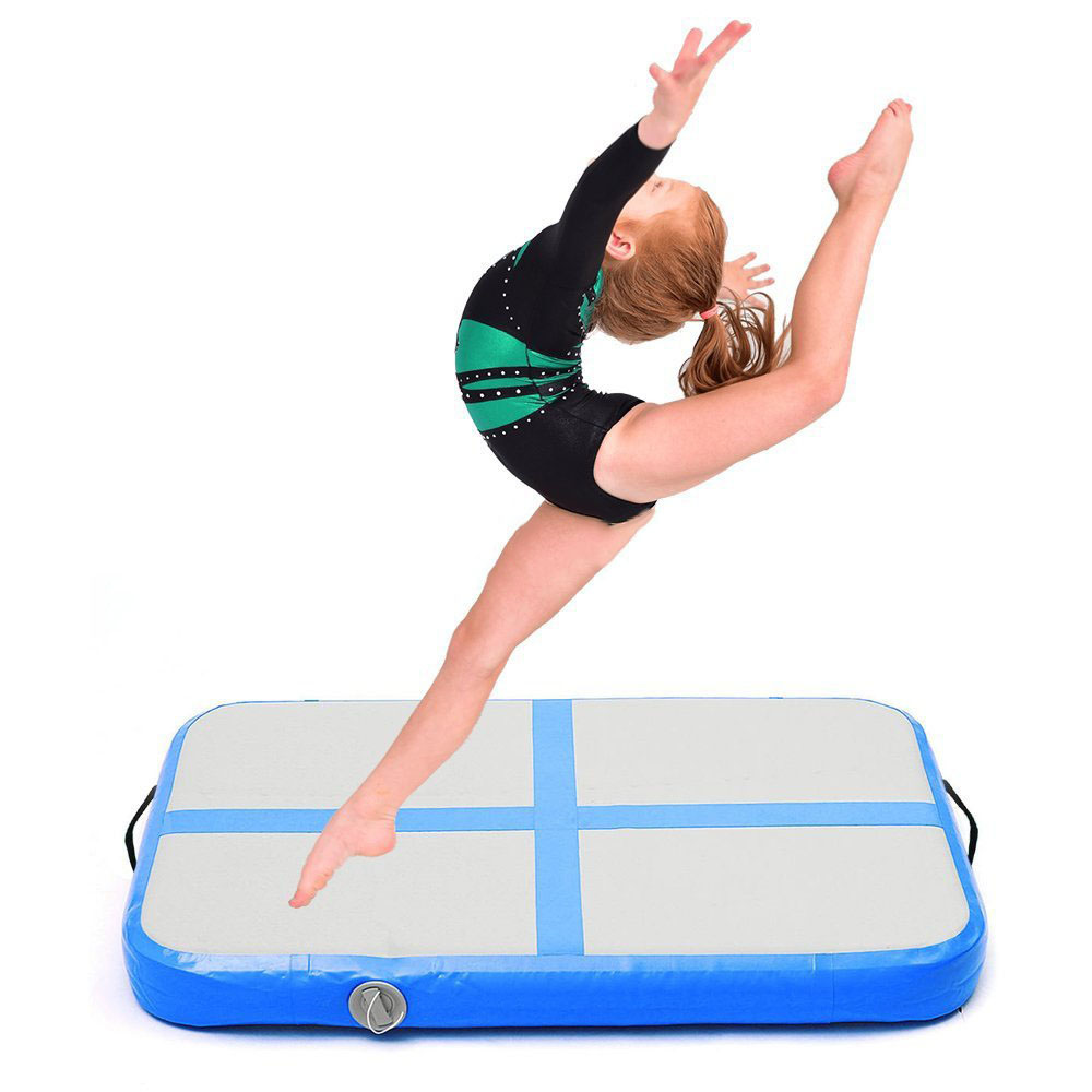 100x60x10cm Gymnastics Air Track Olympics Gym Yoga Wear-resistant Gymnastic  Mattress for Kids Home/Park/Beach/Water Use