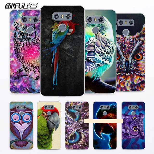 binful birds macaws purple owl printed hard clear phone case cover