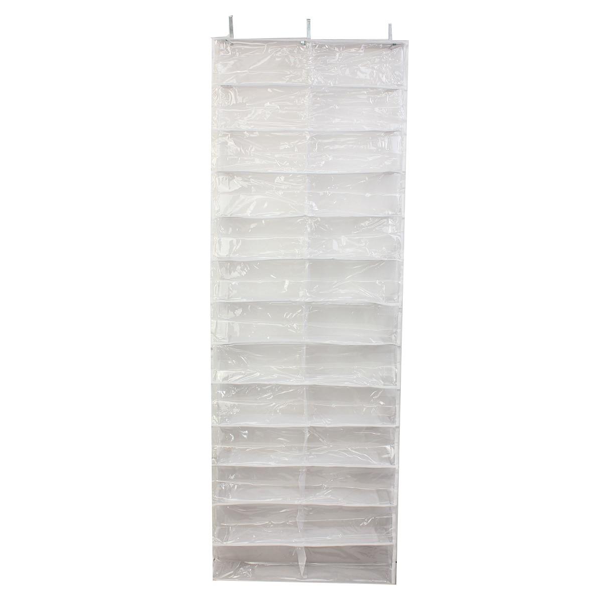 HGHO-26 Pairs Shoe Racks Over Door Hanging Stand Shoe Rack Shelf Storage Organiser Pocket Holder Shoe Storage Cabinet
