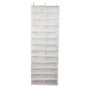 Image 1 - HGHO 26 Pairs Shoe Racks Over Door Hanging Stand Shoe Rack Shelf Storage Organiser Pocket Holder Shoe Storage Cabinet