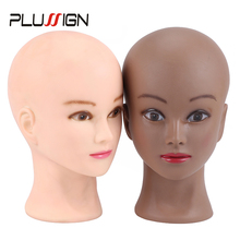 "20.5 ""Blad פאת ראש מקצועי Plussign חדש Mannequin ראש כובע משקפיים פאת תצוגת איפור אימון ראש עם שולחן מהדק"